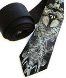 Beer Necktie. Hops & Wheat Print Herringbone Silk Tie, by Cyberoptix. Black and sage green