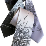 Berlin Map Neckties. German Map Ties by Cyberoptix