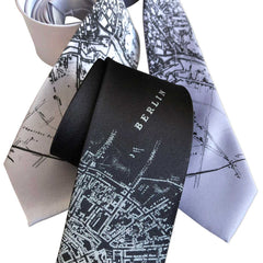 Berlin Map Necktie, German Map Tie