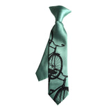 Mint green boys bicycle clip-on tie.