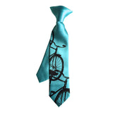 Turquoise boys cruiser bike clip-on tie.