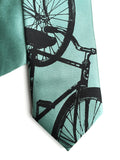 Mint green boys bike clip-on tie.