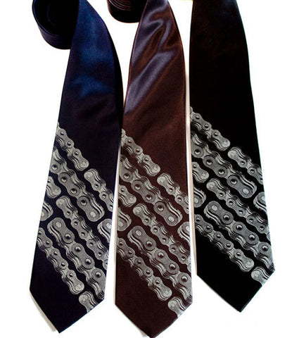 Bike Chain Stripe Necktie