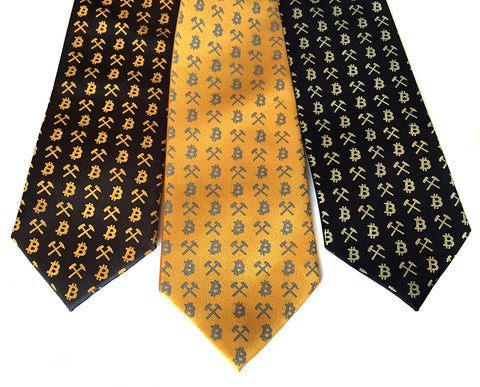 Bitcoin Necktie, Cryptocurrency tie.