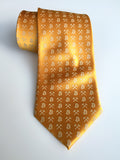 mustard yellow Bitcoin necktie