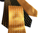 silkscreened bitcoin neckties