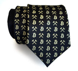 Black and gold Bitcoin necktie