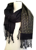 black and gold Bitcoin pashmina scarf