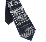 navy blue architect kids tie