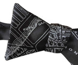 Black Boston Map Printed Bow Tie. 1814 Vintage Map, by Cyberoptix