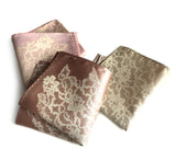 cyberoptix custom printed wedding pocket squares - lace print