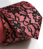 Black ink on hot pink microfiber