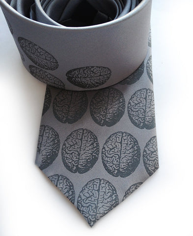 Brain Dot Silk Necktie