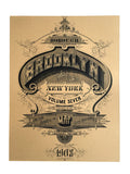 Brooklyn Art Print, Typography Poster, by Cyberoptix