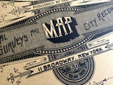 Brooklyn NY map screen printed poster, by Cyberoptix