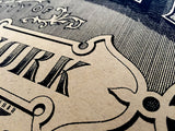 Brooklyn NY silkscreen poster, by Cyberoptix, Kraft paper