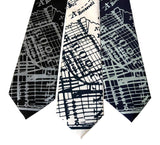 Brooklyn 1920s Map Print Necktie, Accessories for Men, by Cyberoptix
