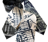 Brooklyn City Map Necktie, New York Tie, by Cyberoptix