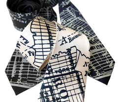 Brooklyn City Map Necktie, New York Tie