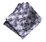 Bubble wrap print pocket square