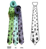 Insect Neckties, black print.