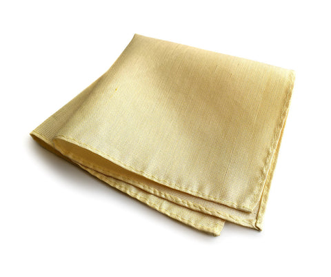 Butter Yellow Linen Pocket Square, Paczki