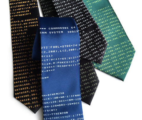 c64 Necktie. Commodore BASIC Code tie