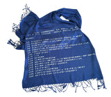 blue commodore 64 scarf