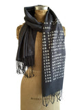 Charcoal grey BASIC code scarf