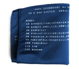blue commodore 64 pocket square, by cyberoptix