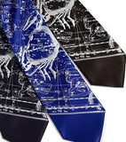 Silver ink on navy, royal blue, black silk