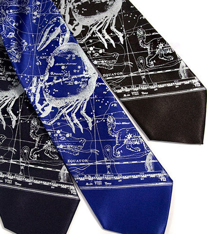 Cancer The Crab, Zodiac Constellation Necktie
