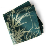 Cannabis Flower Pocket Square, emerald green. by Cyberoptix