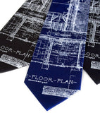Royal blue, blueprint mens necktie