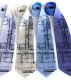 Architect Blueprint Neckties, by Cyberoptix