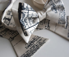 Blueprint Bow Tie, Cass Tech Detroit