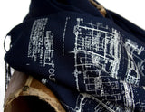 Cass Technical High School blueprint scarf