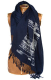 architecture blueprint pashmina scarf
