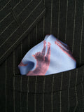 cats print men's pocket square, by cyberoptix