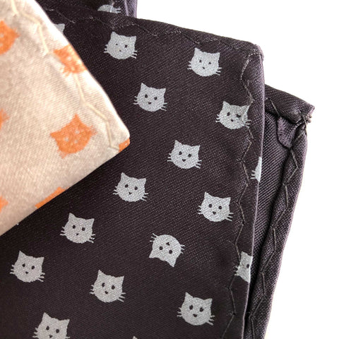 Cat Face Pocket Square, Repeating Cat Dot Print