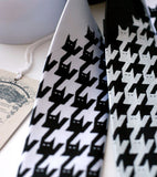 Cats tooth tie, cat print necktie by Cyberoptix