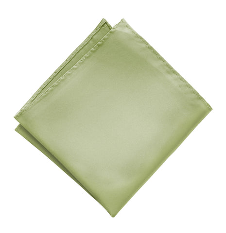 Celery Green Pocket Square. Solid Color Satin Finish, No Print