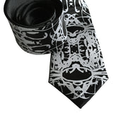 Black Cell Structure Inkblot Necktie, by Cyberoptix Tie Lab