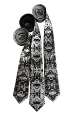 Cell Structure Necktie. Kaleidoscopic cellular biology printed tie
