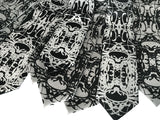 Silver Cell Structure Inkblot Wedding Neckties, by Cyberoptix Tie Lab, Kip Ewing, Nervous System