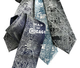 Chicago Map Necktie. Vintage City Map Print Tie, by Cyberoptix