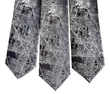 Vintage Illinois Street Map Tie. Microfiber and Silk Ties, by Cyberoptix