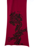 Chinese Dragon Pima Cotton Scarf, red
