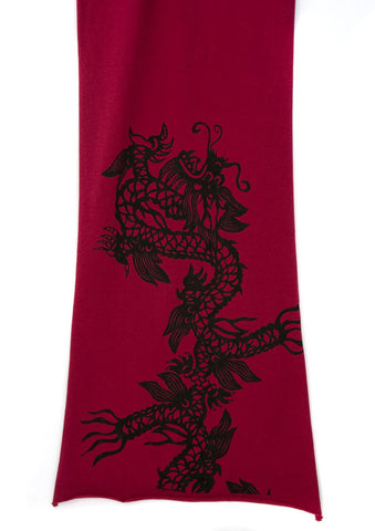 Chinese Dragon Pima Cotton Scarf