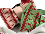 Screen printed Ugly Christmas Sweater bow ties, by Cyberoptix